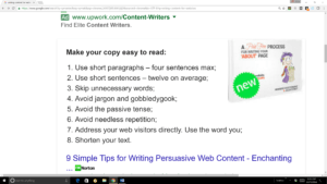 Writing content for search